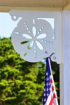 "© Sand Dollar PVC Bracket : Top Quality UV Inhibited PVC  16""x16"" Great for porch renovations, beach home improvement, exterior home renovation, kitchen decorative brackets, interior privacy shutters, mailbox brackets and more."