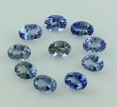 TANZANITE 9.80 CT TOP 5.5X7.5 MM OVAL SHAPE FACETED WHOLESALE LOT OF 10 PIECE  #SGL