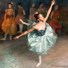 Harpers bazar editorial on Edgar Degas ballet series Impressionism