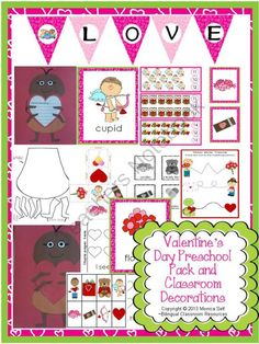 Valentine's Day Preschool Pack and Classroom Decorations - One lucky winner will receive...The Valentine's Day theme Unit {English version} is a 121 page download that is full of learning! Good Luck!.  A GIVEAWAY promotion for Valentine's Day Preschool Pack and Classroom Decorations from Bilingual Resources on TeachersNotebook.com (ends on 1-19-2014)