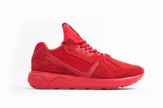 Who is ready for the all red Adidas Tubular Friday? http://thesolesupplier.co.uk/closer-look/adidas-originals-select-collection-tubular-mono/