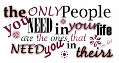 The only people you need