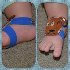 boy barefoot sandals!  http://www.facebook.com/XavisToesies