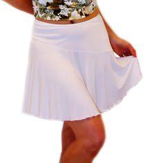 NEW on ETSY : Ladies White Stretch Matte Jersey #Casual #Mini #Skirt by @BlondiBeachwear http://etsy.me/1rlNEAe via @Etsy #clothing #beachwear #Sale $40.00