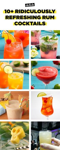 Ridiculously Refreshing Rum Cocktails You'll Be Drinking All Summer 14 Easy Rum Mixed Drinks - Best Rum Cocktail Recipes Rum Cocktail Recipes, Rum Recipes, Cocktail Drinks, Easy Rum Cocktails, Beach Cocktails, Easy Recipes, Recipies, Dinner Recipes, Recipes