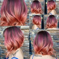 Image result for rose gold hair colors ideas hairstyles 53