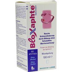 BLOXAPHTE Mundspülung:   Packungsinhalt: 100 ml Flaschen PZN: 06909929 Hersteller: Dr. Gerhard Mann Preis: 7,68 EUR inkl. 19 % MwSt.…