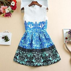 2015 New Women Spring Summer Casual Sexy Vintage Dress Bodycon Female Leisure Printing Plus Size Evening Party Dresses Vestidos