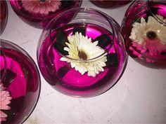 Vaso com água colorida