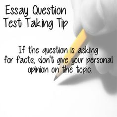 How to Answer an Essay Question on a Test!!?