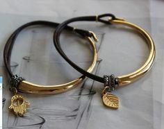 hamsa bracelet,leaf bracelet, leather bracelet,elegant bracelet,delicate bracele,handmade bracelet,fashion bracelet,gold chain bracelet,crys. $11.00, via Etsy.