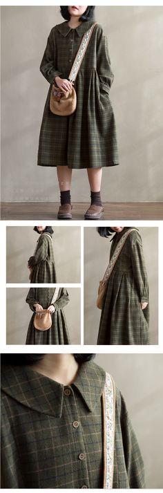 Dress cute in cold weather coats Ideas Mori Girl Fashion, Cute Fashion, Hijab Fashion, Korean Fashion, Vintage Fashion, Fashion Outfits, Womens Fashion, Trendy Dresses, Simple Dresses