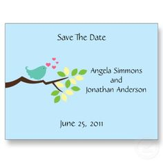 Love Bird Save The Date