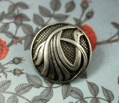 Dynamic Water Metal Buttons , Nickel Silver Color , Shank , 0.79 inch , 8 pcs by Lyanwood, $5.00