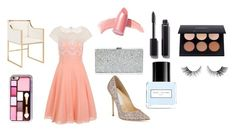 Prom by stylekittybeauty on Polyvore featuring polyvore, fashion, style, Chi Chi, Jimmy Choo, Milly, Elizabeth Arden, Chanel, Marc Jacobs, Worlds Away and clothing