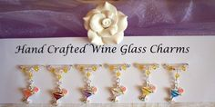 Wine Glass Charms - Cocktail Wine Glass Charms - New Home Gifts £9.99 Cocktail Theme, Cocktail Glass, Gifts Delivered, Wine Glass Charms, Organza Gift Bags, Swarovski Pearls, New Home Gifts, Hostess Gifts, Mother Day Gifts