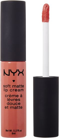 Nyx Cosmetics Soft Matte Lip Cream, Antwerp.  NYX Soft Matte Lip Cream: Straddles the line between lipstick and gloss Creamy, lustrous formula applies like silk Soft matte finish exudes a sensual glow Unique innovative texture adds the perfect polish to any look.  Lip color, Lip gloss, lipstick
