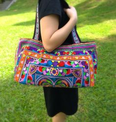 A personal favourite from my Etsy shop https://www.etsy.com/sg-en/listing/209958413/boho-hmong-embroidery-ethnic-tote-bag