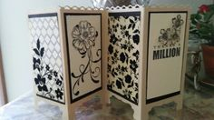 Thanks a Million Screen Cards, Folding Screens, Easel Cards, Pop Up Cards, Folded Cards, Stampin Up Cards, Shark, Oriental, Divider