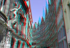https://flic.kr/p/GYxo58 | Kaasstraat Antwerpen 3D | anaglyph stereo red/cyan