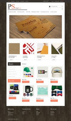 Template 49089 - Print Store Responsive OpenCart Template