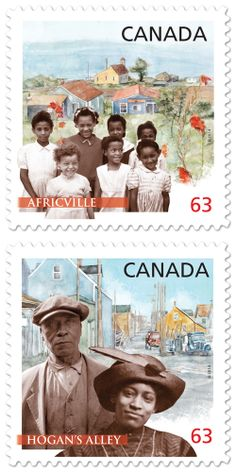 Canada Post has issued two postage stamps honoring Afro-Canadians during black history week.