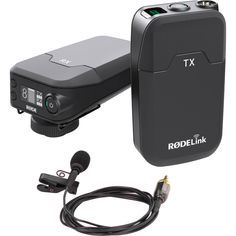 Rode RodeLink Wireless Filmmaker Kit PRODUCT HIGHLIGHTS Transmitter and Receiver Included Broadcast Quality Lavalier Mic Included Series II 2.4 GHz Digital Transmission 128-Bit Encrypted Signal 24-Bit/44.1 kHz Lossless Transmission Up to 100m Range One Touch Pairing OLED Digital Display 3-Level Gain Control USB and AA Battery Powered
