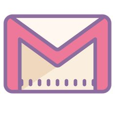 Gmail icons in Cute Color style for graphic design and user interfaces