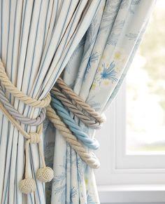 Rope Curtain Steel Tieback #lauraashleyhome
