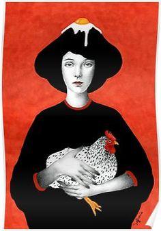 Ofelia Framed Art Print by Sofia Bonati - Vector Black - Art And Illustration, Portrait Illustration, France Tattoo, Sofia Bonati, 3d Drawings, 3 Arts, Art Moderne, Art Plastique, Oeuvre D'art
