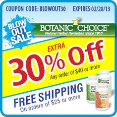 #Vitamins,#Supplements Free coupons discounts bargains Blow Out Vitamin Sale! Use Coupon Code: BLOWOUT30 -- Take 30% off $40+ orders, plus get free shipping when you spend $25+. Valid on everything! http://www.planetgoldilocks.com/Vitamins.htm