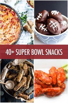 Over 40 Super Bowl Snack Recipe Ideas Healthy Superbowl Snacks, Game Day Snacks, Quick Snacks, Game Day Food, Vegan Snacks, Healthy Meals, Appetizers For Party, Appetizer Recipes, Snack Recipes