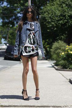 #blogger #fashionblog #fashionroll #philliplim #Nyc #zaraleathershorts #freepeopledenimjacket #rebeccaminkoffskylar #summerstyle