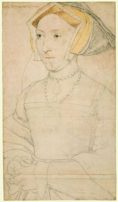 Queen Jane Seymour (1508/9-1537) ~ Hans Holbein the Younger... she's the Lady who replaced Anne Boleyn as Henry VIII's consort and soon thereafter died from complications of childbirth