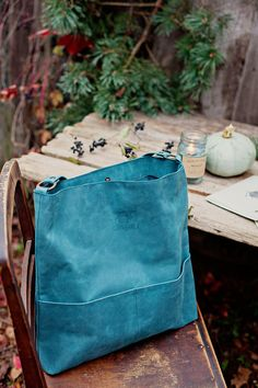Genuine leather hobo bag with regulated handle - mat leather shoulder bag - teal colour hobo bag Leather Bag Pattern, Bags 2018, Art Bag, Diy Purse, Girls Bags, Everyday Bag, Hobo Bag, Womens Tote Bags, Leather Purses