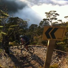 Michelle escaped the office and went for a spin.Navigating the switchbacks on the way down from Ghost Lake Hut is all the talk at morning tea