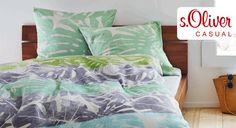Mako-Satin-Bettwäsche für den Frühling. | Betten.de http://www.betten.de/bettwaesche-s-oliver-muster-mint-gruen.html #Bettwäsche #Frühling #Schlafzimmer