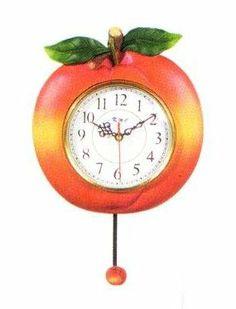 Kitchen Themes, Kitchen Decor, Peach Kitchen, Pendulum Wall Clock, Just Peachy, The Time Is Now, Peaches, Alarm Clock, Clocks