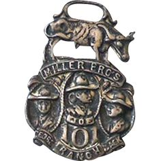 1920s 101 Ranch Wild West Show Rodeo Watch Fob