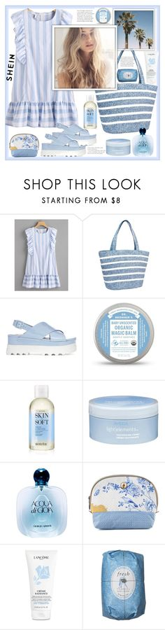 """Shein"" by natalyapril1976 ❤ liked on Polyvore featuring Magid, Miu Miu, Avon, Aveda, Giorgio Armani, PiP Studio, Lancôme and Fresh"