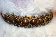 Brown Elegance jewelry collar by WispynookCreated on Etsy
