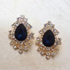 François Navy Earrings