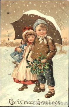 Two Kids in Snow Children