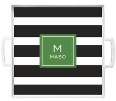 black modern stripe tray