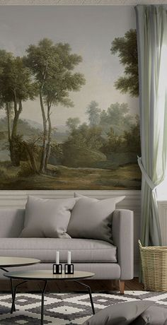 Discover recipes, home ideas, style inspiration and other ideas to try. Dining Room Wallpaper, Interior Wallpaper, Dining Room Walls, Wallpaper Murals, Country Interior, Interior And Exterior, Casa Milano, Condo Decorating, Dining Nook