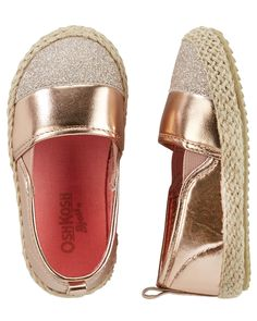 OshKosh Metallic Slip-On Espadrilles