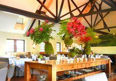 Gorgeous hanging flower arrangements