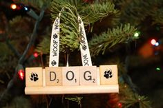 Love My Dog and Cat Scrabble Ornaments & by HidingPlaceBoutique