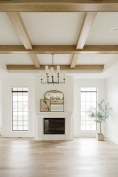 Custom Fireplace Mantels, Stone Fireplace Mantel, Fireplace Surrounds, Classic Fireplace, Stone Fireplaces, Stone Houses, Wood Beams, Great Rooms, Living Spaces