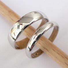 Wedding rings set white gold wedding bands set men by havalazar, $540.00
